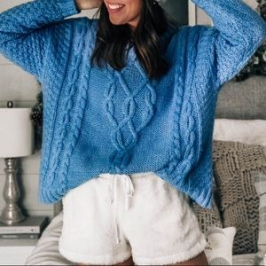 Cable knit sweater size XS NWT